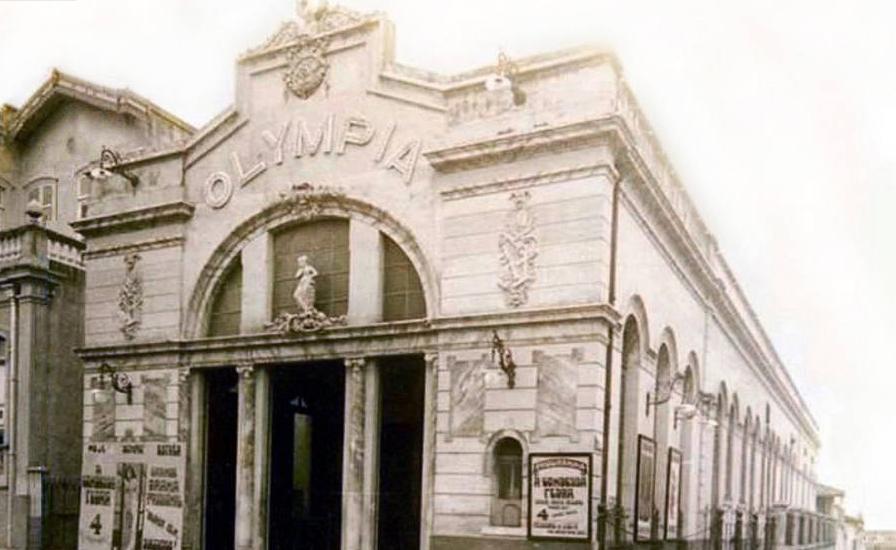Fachada do Cine Olympia no ano de inauguração, 1912.