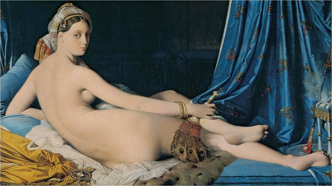 A grande odalisca (1814), quadro de Jean-Auguste-Dominique Ingres.