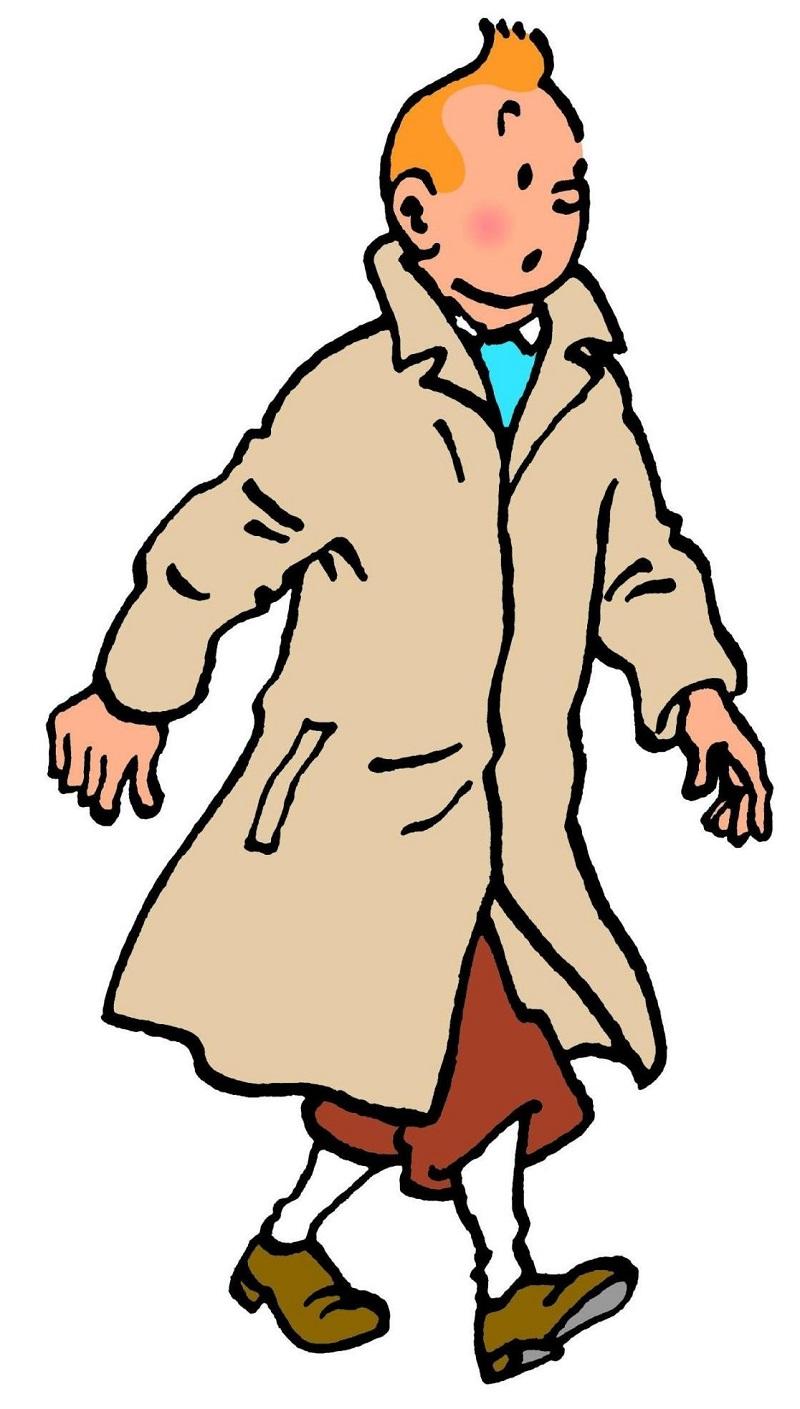 Tintim, famoso repórter dos quadrinhos criados por Hergé, cuja primeira história foi publicada em 1929.