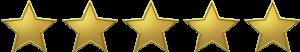 Nota 5 estrelas de 5