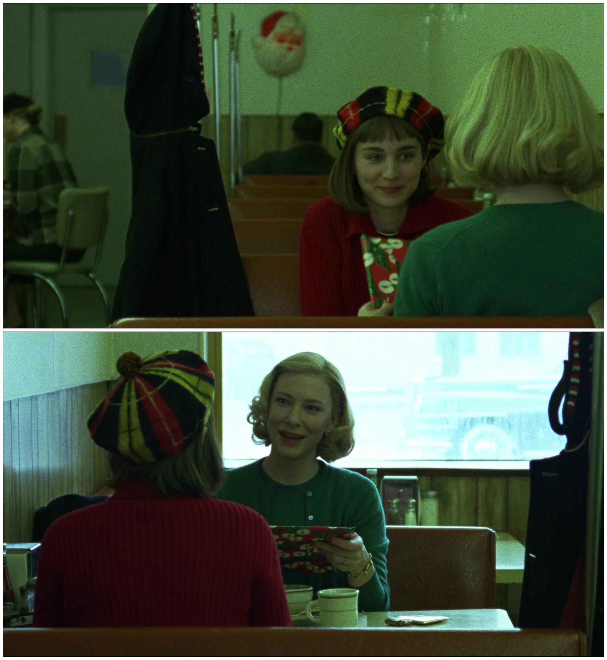 Carol Todd Haynes Cate Blanchet Rooney Mara cafe
