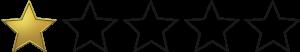 Nota: 1 estrela de 5
